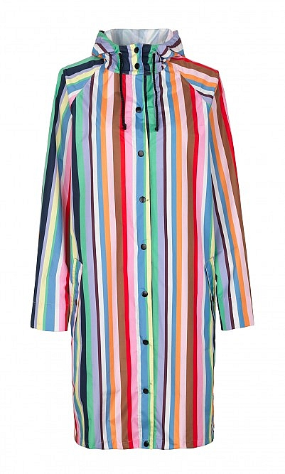 Multi stripe raincoat