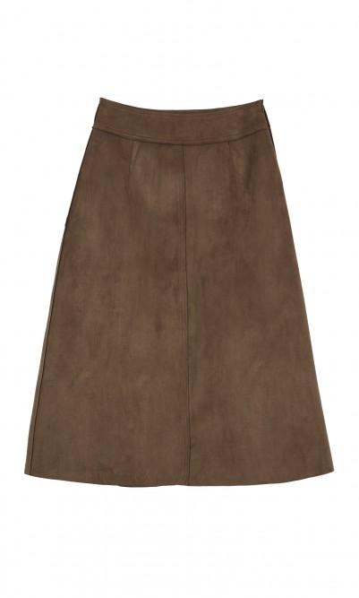 Rhea skirt - faux suede