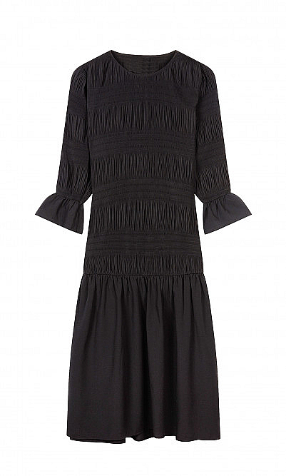 Lucille pleated dress