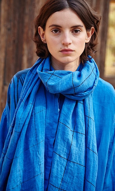 Indigo blue scarf