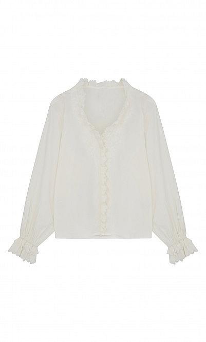 Ruffle vintage blouse