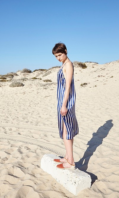 Stripe slip dress