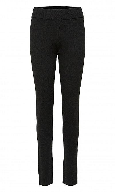 Black knit leggings