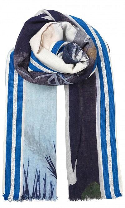 Blue beach scarf
