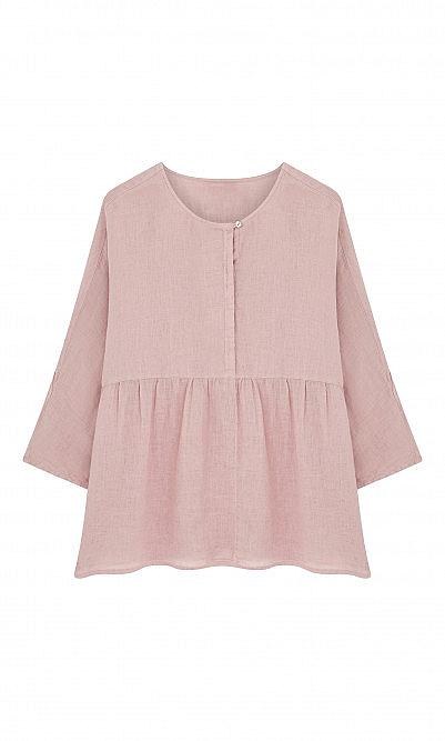 Rosa linen top