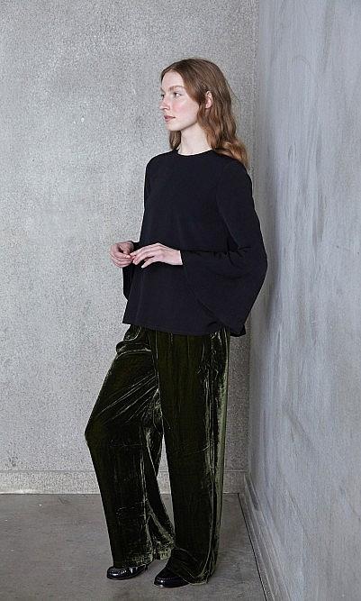 Moss Velvet Pants