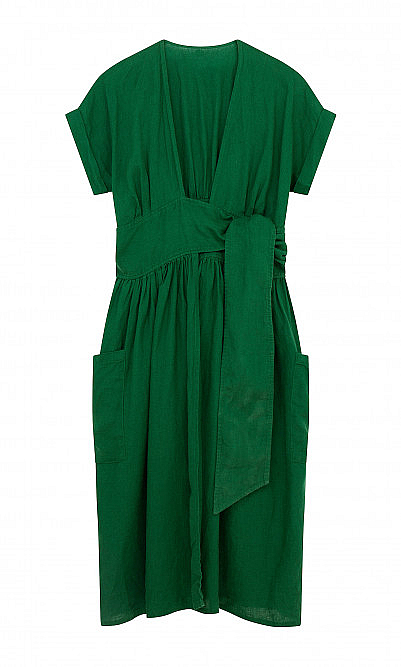 Spruce linen dress