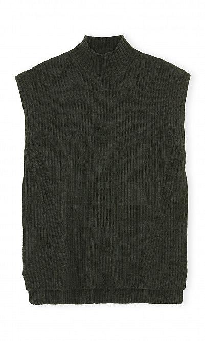 Dark green vest by Ganni