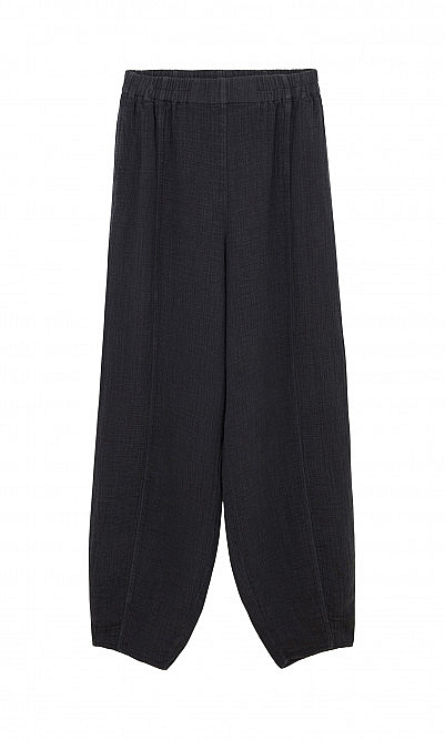 Gray crinkle trousers