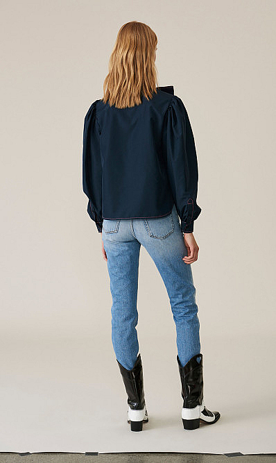 Ganni side slit denims