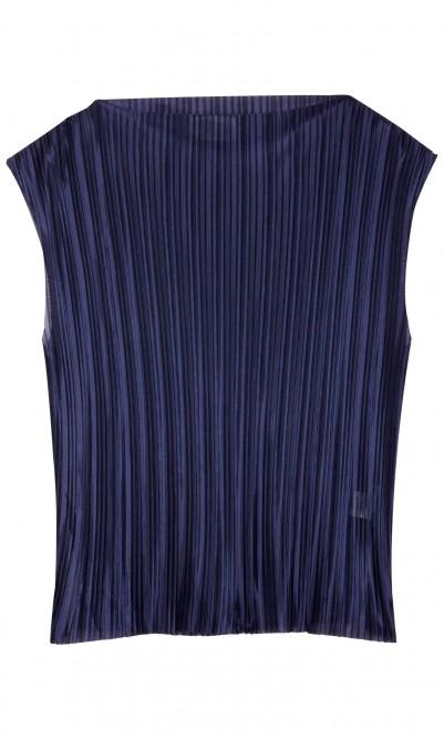 Wave sleeveless top