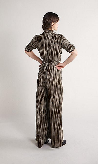 Sepia crepe jumpsuit