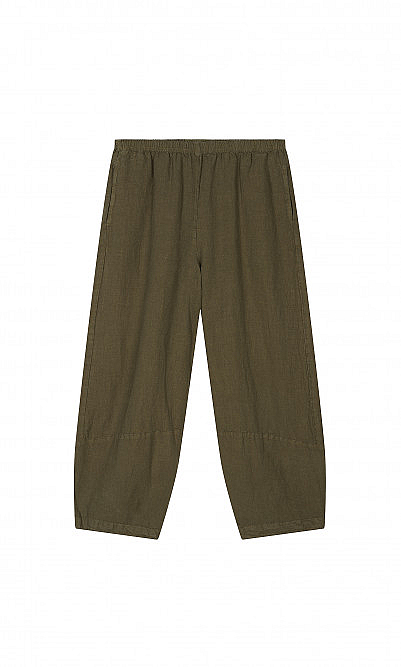Olive barrel pants