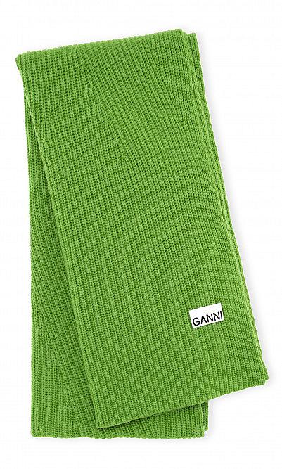 Flash green scarf by Ganni