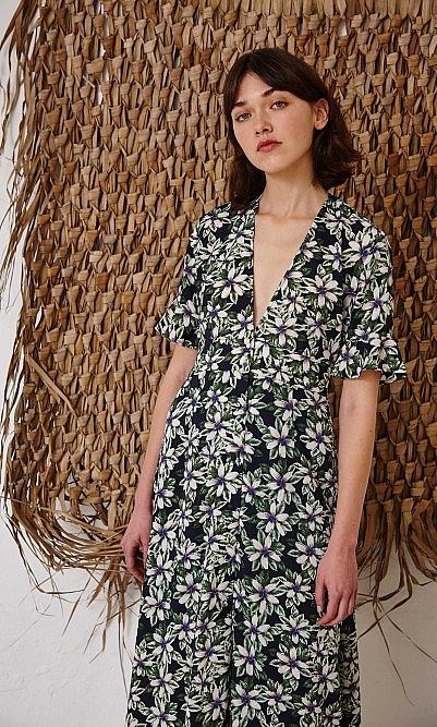 Green magnolia dress - showroom sample