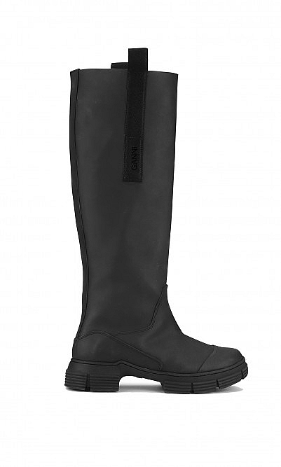 Black rubber Ganni boots