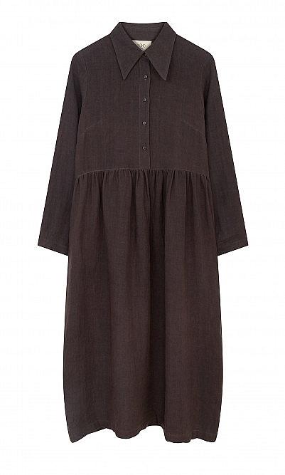 Overcast linen dress