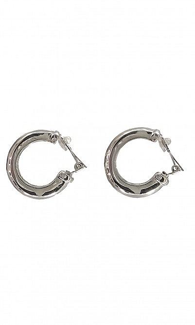 Chunky Hoops - Silver