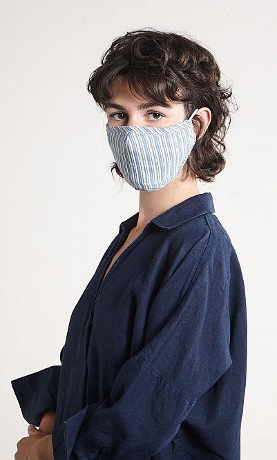 organic hemp stripe face mask