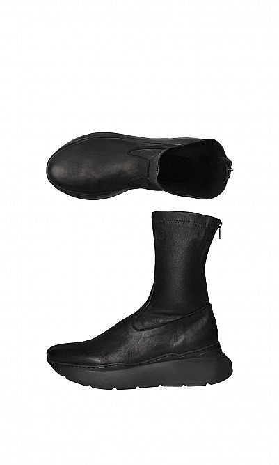 Leather sock boots