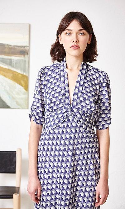 Silk fan dress