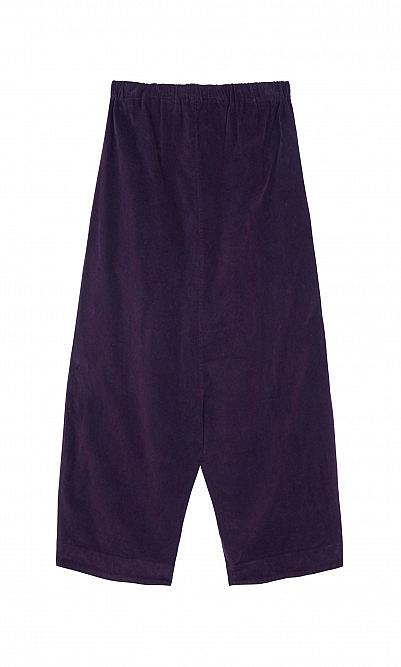 Plum velvet pants