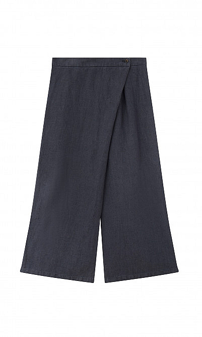 Wrap linen trousers