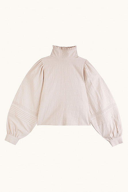 Carnation frill blouse