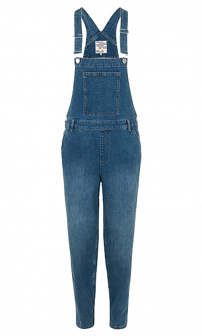 Blue washed dungarees
