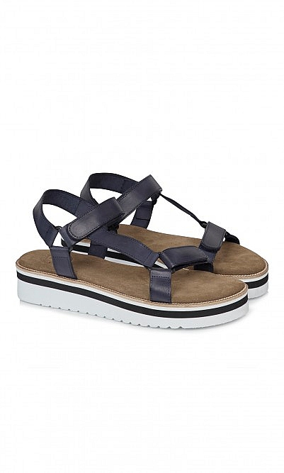Tumi leather sandals