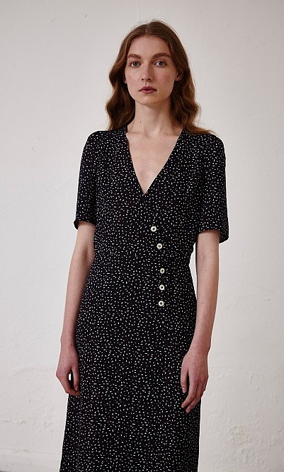 Rene button dress