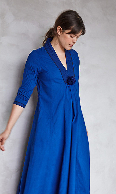 Blue veira dress