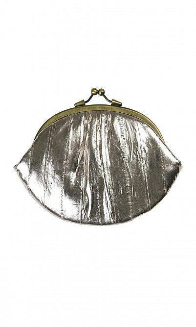 Dark silver purse