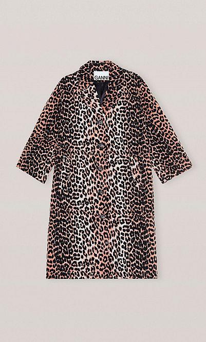 Ganni Leopard coat