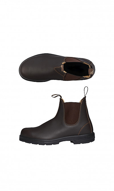 Brown blundstone boots