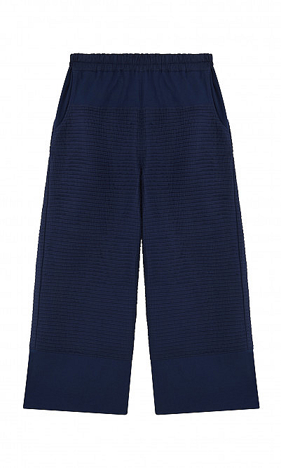 Azure pintucked pants