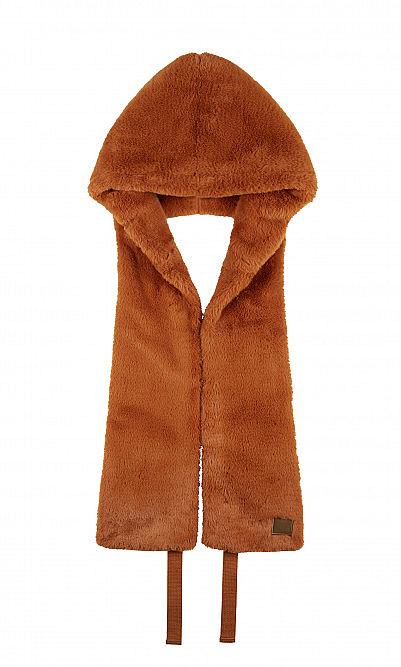 Fake fur hood