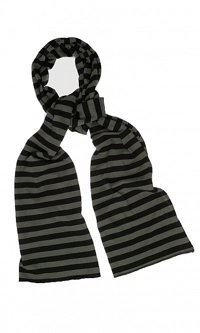 Green stripe scarf