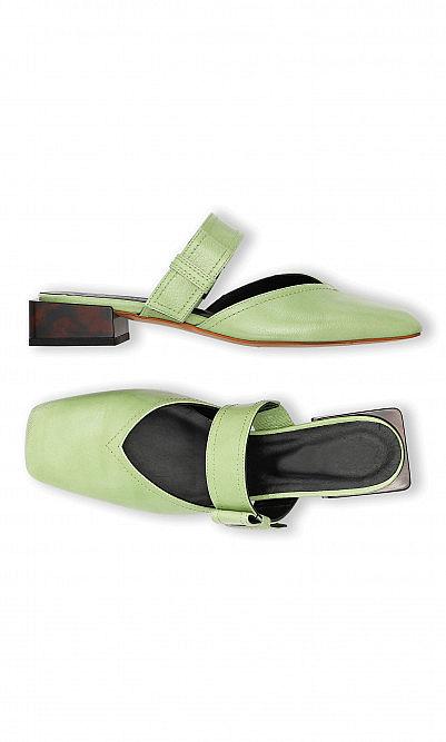 Patina green sandals