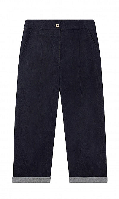 Indigo curved jeans