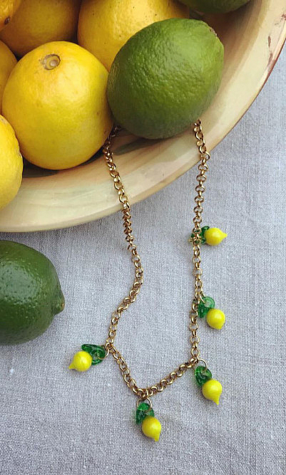 Lemon chain necklace